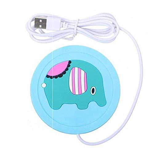 USB-coaster verwarming, van silicone, draagbaar, warmte-verwarming, elektronisch, Rilievo, koffiekop, melkopschuimer en onderzetter