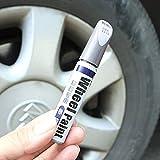 KinshopS Lápiz de retoque de aleación de aluminio para reparación de arañazos para rueda de coche, color blanco