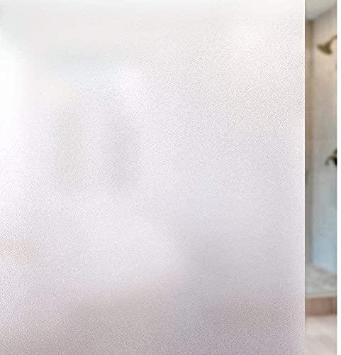 rabbitgoo Film Fenetre Anti Regard, Film Occultant Fenêtre, Film Electrostatique Vitre 30x120cm Bon Intimité, Film Opaque pour Vitre Anti UV Dépoli pour Bureau Maison Salle de Bain Chambre Cuisine
