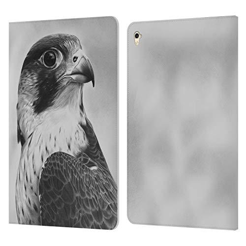 Head Case Designs Offizielle Graham Bradshaw Wanderfalke Illustrationen Leder Brieftaschen Huelle kompatibel mit iPad Pro 9.7 (2016)