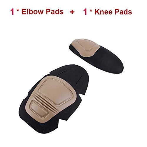 Kniebeugels voor vrouwen Militaire Tactische G2 G3 Kikker pak Kniebeschermers & Elleboog Ondersteuning Paintball Airsoft Kneepad Geïnpoleerde Kniebeschermer Set Kniebrace voor mannen Sand1