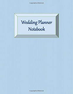 Wedding Planner Notebook: Gender Neutral - Ultimate Planning Helper - Pale Blue Cover - Aide Memoir Sheets - Venue - Budget - Catering - Contact Sheets - Countdown Prompts