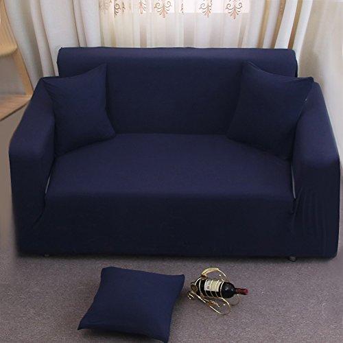 Copri divano a 2 posti, 7 colori, fodera di tessuto elastico morbido, divano di casa, mobili. Blue