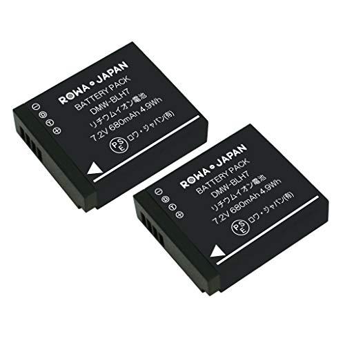 【実容量高】【2個セット】 PANASONIC パナソニック LUMIX GM1 の DMW-BLH7 互換 バッテリー [ 残量表示 &...