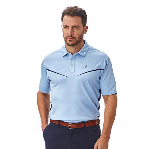 Under Par Herren Golf Pro Qualität Atmungsaktiv Wicking 8 Styles 18 Farben Golf Golf Polo Shirt XXL Stil 1704 - Himmelblau/Marineblau