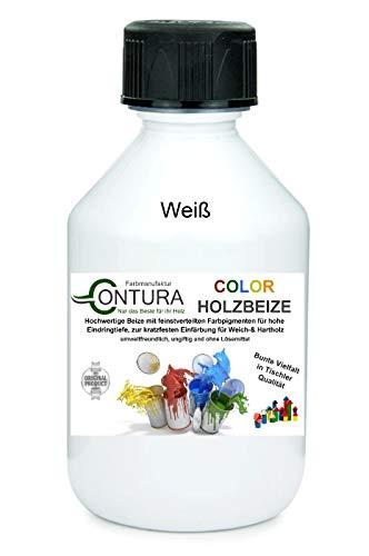 Colorbeize Weiß Holzbeize Tischler Beize Holz Farbe Wasserbeize Möbel Holzfarbe Wasserbasis (500ml)