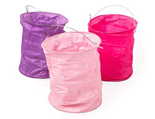 kadoh Papierlampion (M) Höhe 12 cm Ø 9,5 cm Set/3 babyrosa-pink-lila