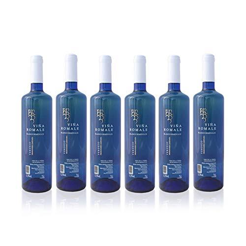 Viña Romale - Vino Blanco Verdejo Semidulce Viña Romale - Pack de 6 botellas