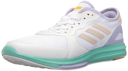 adidas Performance Damen Yvori Runner Cross-Trainer Schuh, Weiá (Weiß/Aqua/Dust Purple), 39.5 EU