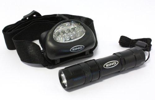 Ring Lampe torche et lampe frontale Noir