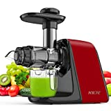 Juicer Machines, NXONE Slow Masticating Juicer, Cold Press Juicer Extractor with High Hardness...