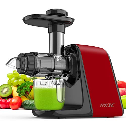 Juicer Machines, NXONE Slow Masticating Juicer, Cold Press Juicer Extractor with Queit Motor/Not Break, Not Jammed, Slow Juicer Easy to Clean, 3-Speed Modes for High Nutrient Vegetables & Fruits