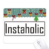 instaholicスタイリッシュワード ゲーム用スライドゴムのマウスパッドクリスマス