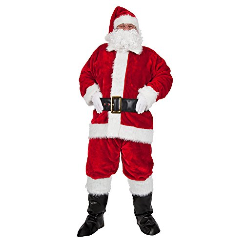 Wicked Costumes Regal Plush Professional 8pc Santa Outfit (One Size)