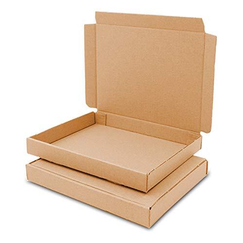 100 Grossbriefkartons 165 x 125 x 20 mm braun GB-0 A6 für Briefsendung DHL DPD GLS H Päckchen, Versandkarton, Büchersendung