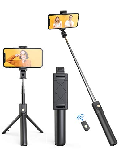 FAPPEN Selfie Stick, 3 in 1 Extendable Bluetooth Selfie Stick with...