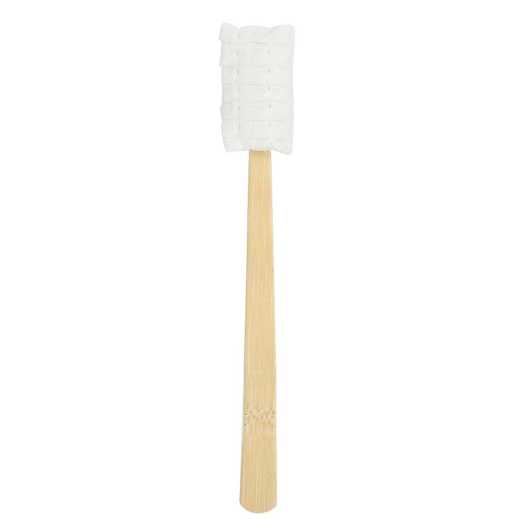 特異なお願いします性的30pcs使い捨てマタニティソフトガーゼ歯ブラシ