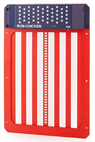 RUN-CHICKEN Model T50, USA Special Automatic Chicken Coop Door, Full Aluminum Doors, Light Sensing, Evening and Morning Delayed Opening Timer