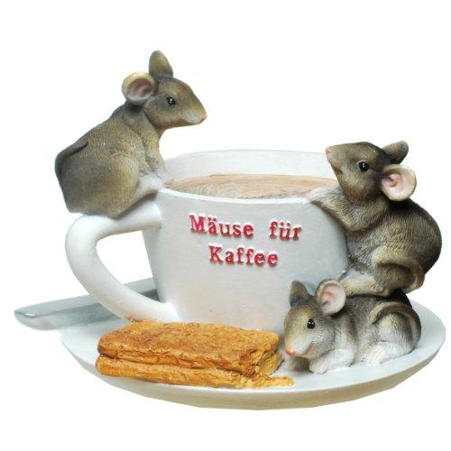 Spardose Kaffeekasse Kaffeetasse Mäuse für Kaffee Sparbüchse Tasse Kasse