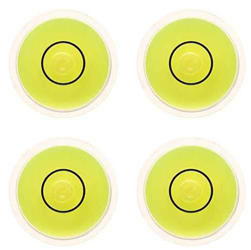 4 x Plexiglas Dosenlibelle Durchmesser 25mm, Höhe 10mm, planer Boden
