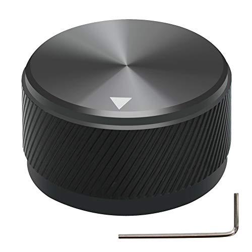 Mxuteuk - Perilla de control de potenciómetro de aleación de aluminio negro...