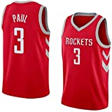 llp Miller Men's Basketball Jersey HOU Paul # 3 Entrenamiento Deportivo Sudadera...
