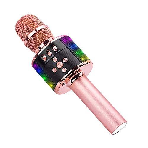 Micrófono Karaoke Inalámbrico Karaoke Micrófonos Altavoz 4 en 1 jugador de Karaoke portátil de mano Bluetooth compatible con Android y iOS for el hogar KTV del partido Muisc Reproducción para el canto