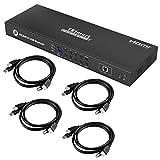 TESmart Ingressi Porte 4K UHD 8 Switch KVM HDMI,USB 2.0, Interruttore di Controllo Porta LAN/RS232