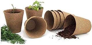 COIR GARDEN Coir Pot 3 inch - 10 Nos, Coco Pot, Gardening Coir Seedling Cup