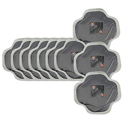 Parche de reparación de neumáticos, 10 Piezas 128 mm de Caucho Natural para Coche Reparación de pinchazos de neumáticos Parche frío Parches sin cámara