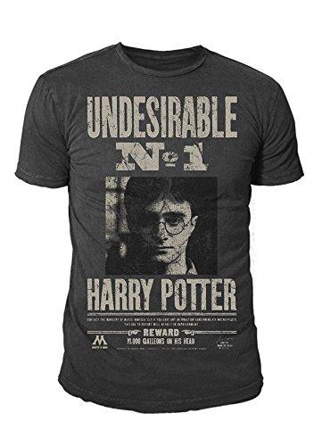 Harry Potter - Herren T-Shirt - Undesirable No 1 (Grau) (S-XL) (XL)