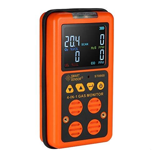 4-in-1-Handgasanalysator Tragbarer Multi-Gasdetektor Digitaler Luftqualitätsprüfer Wiederaufladbarer batteriebetriebener Gasmonitor