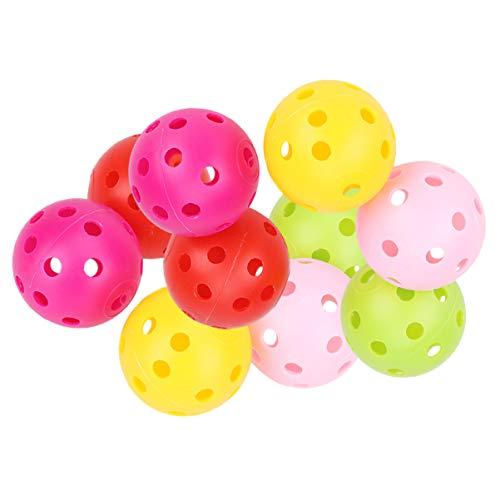 Toyvian 12 Stück Plastik Golfbälle hohl Trainingsbälle sportbälle 41mm Farbige