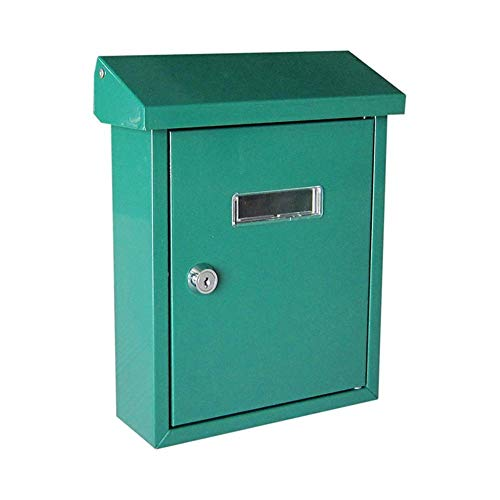 Briefkästen Top-Loading Steel Postfach in Anthrazit Wandmontiert Classic Premium Mailbox Abschlussbare wasserdichte Mailboxen Briefkasten (Farbe: Silber) Xping (Color : Green)