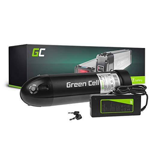 GC® Bateria Bicicleta Electrica 24V 12Ah Botella Li-Ion E-Bike Batería y Cargador