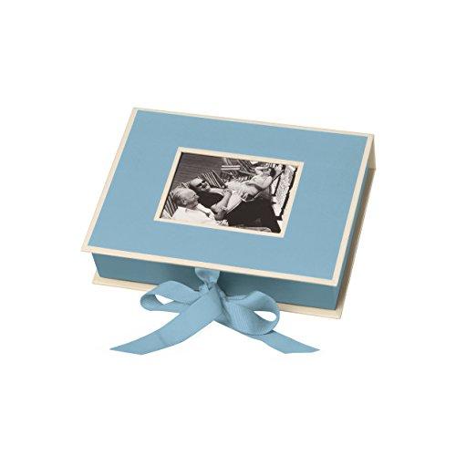 Semikolon (352516) Kleine Fotobox mit Einschubfenster ciel (hell-blau) - Aufbewahrungsbox für Bilder - Geschenk-Box für Schmuck - 20,7x15,3x4,7 cm