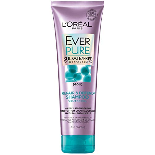 Price comparison product image L'Oreal Paris EverPure Sulfate Free Repair & Defend Shampoo with Goji,  8.5 Fl. Oz (Packaging May Vary)