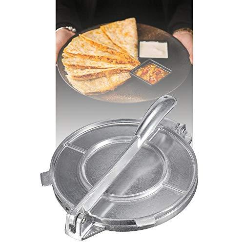 Lucky Family 20 cm Tortilla Maker, Aluminiumlegierung Tortilla Press Antihaft-Hochleistungs-Teigpresse Mehl Mais Fladenbrot Pita Press Maker für Home Restaurant Good