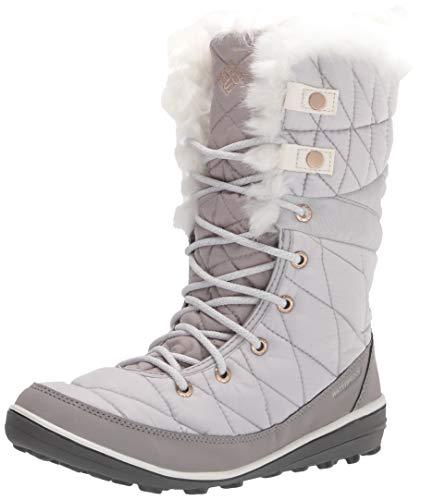 Columbia Women's Heavenly Omni-Heat Snow Boot, Grey Ice/Sea Salt, 7.5