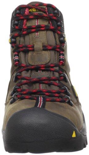 "KEEN Utility Men's Pittsburgh 6"" Steel Toe Waterproof Work Boot, Bison/Bison, 7 Wide US"
