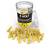 E-VOLT Female Spade Crimp Connectors – 80 PC 3:1 Polyolefin Heat Shrink Wire Connectors for 12-10 AWG   Industrial Grade Quick Disconnect Electrical Connectors for Boats, Automotive and Audio