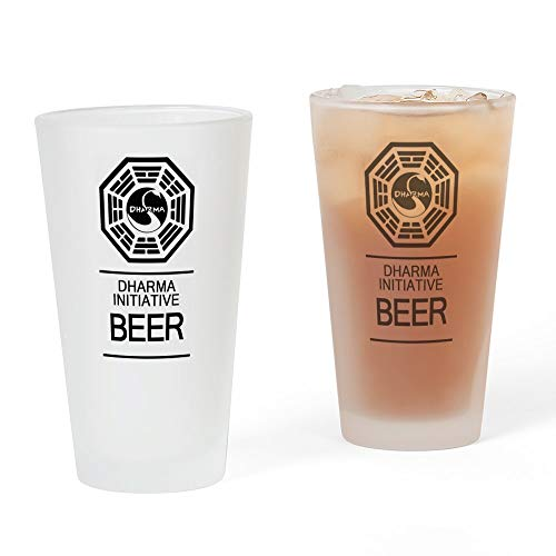 CafePress – Dharma Initiative Bier Glas – Pint-Glas, 16 oz Trinkglas frosted