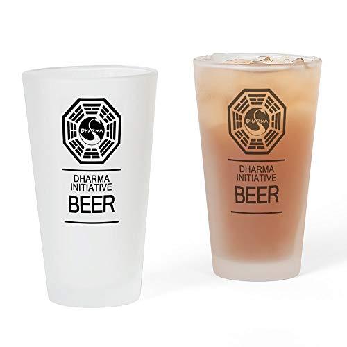 CafePress–Dharma Initiative Bier Glas–Pint-Glas, 16oz Trinkglas frosted