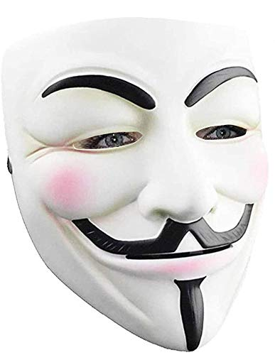 Updated Hacker Mask for Kids - V for Vendetta Mask Halloween Masks Anonymous Guy Mask for Halloween Costume