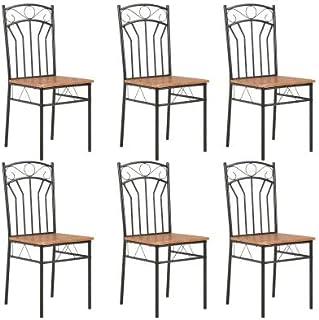 Lot de 6 chaises design élégantes, modernes, pour cuisine, bar, restaurant, chaises de salle à manger en style industriel ...