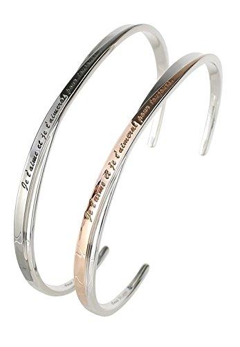 [クローストゥーミー] Close to me [特 別 仕 様] ブルーダイヤモンド 刻印 永遠の愛 シルバー 925 ペアバングル ブレスレット 2個セット