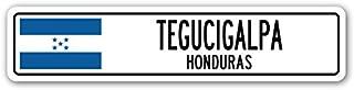 Tegucigalpa, Honduras Street Sign Honduran Flag City Country Road Wall Gift