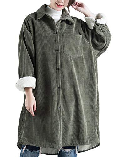 HaiDean Abrigo De Solapa con Cuello De Solapa para Modernas Casual Mujer Chaqueta De Pana Interior Abrigo Moda 2020 Ropa De Mujer