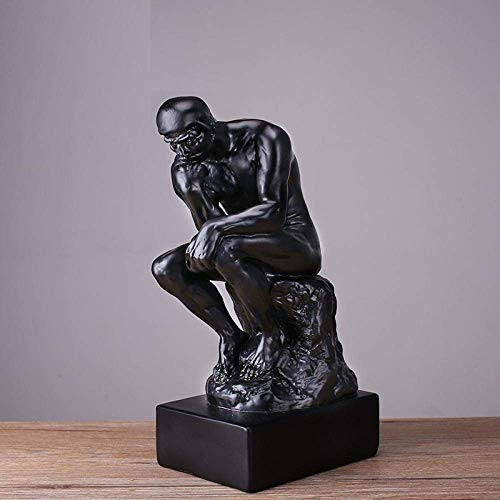 Mnjin Decoración del hogar Estatuas y estatuillas Escultura de Metal Escultura de Vida Silvestre Minimalista Moderno Adorno de Pensador casero Escultura de Personaje Creativo