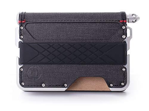 Dango D01 Dapper Bifold Pen Wallet- Black DTEX/Satin Silver